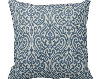 Blue Pillow Covers, Couch Pillows, Decorative pillows, Blue Floral Pillows,Waverly Home Decor, Blue White Throw Pillows,blue indigo pillows