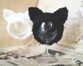Black cat hat. Ear hat for newborn prop. Blythe cat hat. Blythe accessories. Blythe doll hat. halloween costume black cat