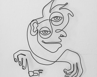 Intuitive Portrait 5 Wire Wall Art