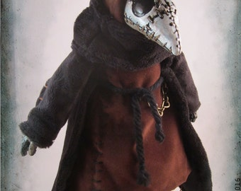 Stitched Plague Doctor OOAK Artist Doll