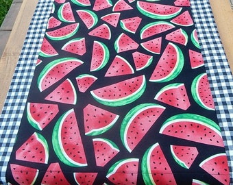 Watermelon Table Runner Summer Picnic Outdoor Dining on the Deck