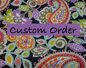 """Custom order for Sara only-  29"""" Octagon Ottoman in red animal chenille"""