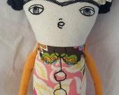 Frida Kahlo art doll