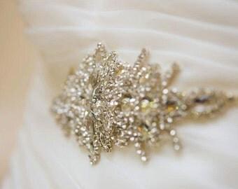 Jeweled Belt, Crystal Bridal Belt, Bridal Sash, Rhinestone Sash, Rhinestone Applique Bridal Dress Sash Wedding Belt Bridal Belt Crystal Sash