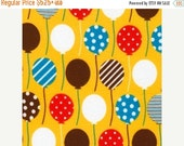 SUPER SALE FLANNEL - Balloons on Yellow from Robert Kaufman