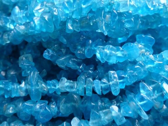 Neon blue apatite blue apatite chipsNeon blue by MagicaLuna