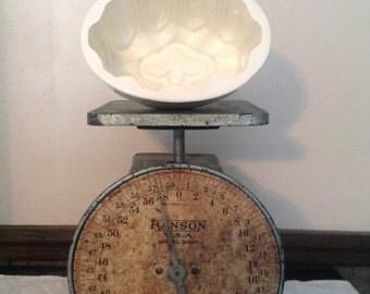 Antique Ironstone Jello Pudding Bread Mold