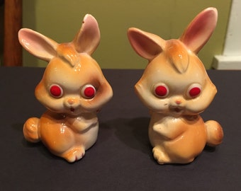 Vintage Bunny Salt & Pepper Shakers