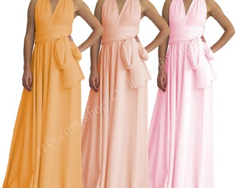 Bridesmaid dress / Convertible maxi dress / Wrap dress / Bridesmaid gown / Maxi dress / Plus size maxi dress / Maternity maxi dress ORCHIDEA