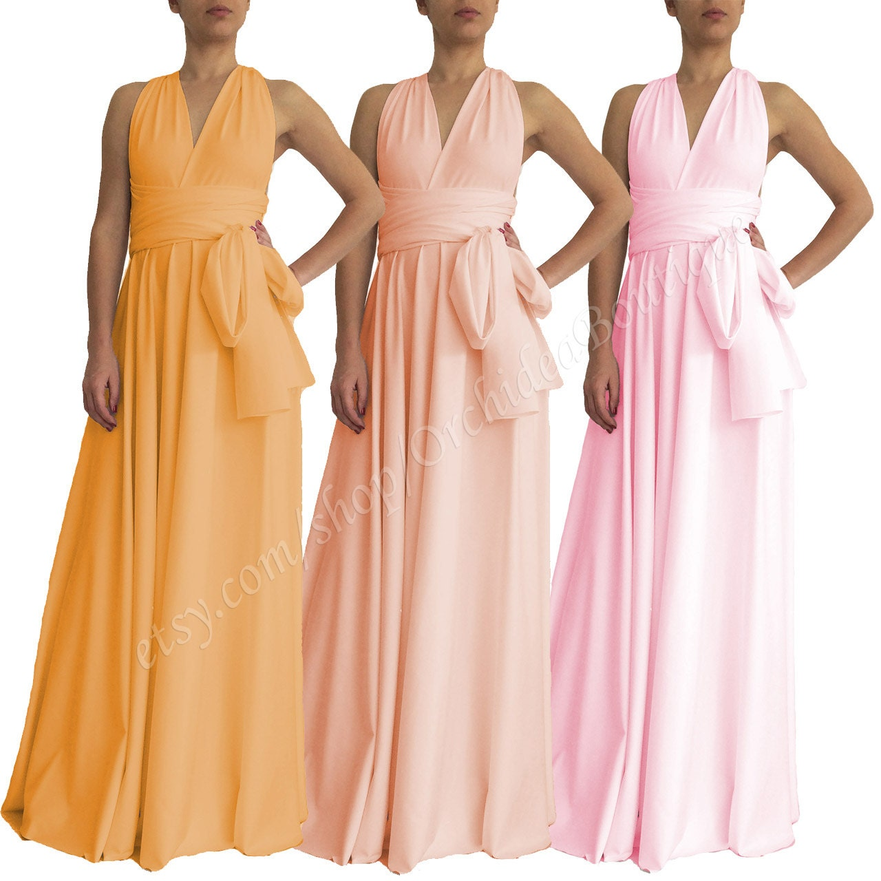 Convertible dress evening wrap gown pink maternity dress zoom ombrellifo Choice Image