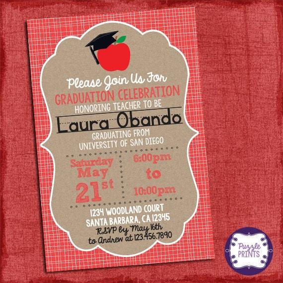Teacher graduation invitation graduation invitation grad invite i il570xn filmwisefo