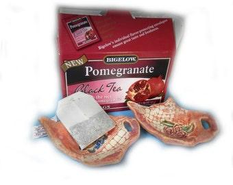 Tea bag holder, tea lovers, ceramic dish, hostess gift,  trending items ,  #43