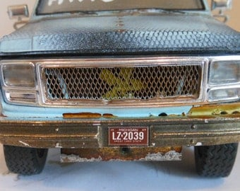 Classicwrecks,Rusted Wreck, Ford Scale Model, Pickup Truck