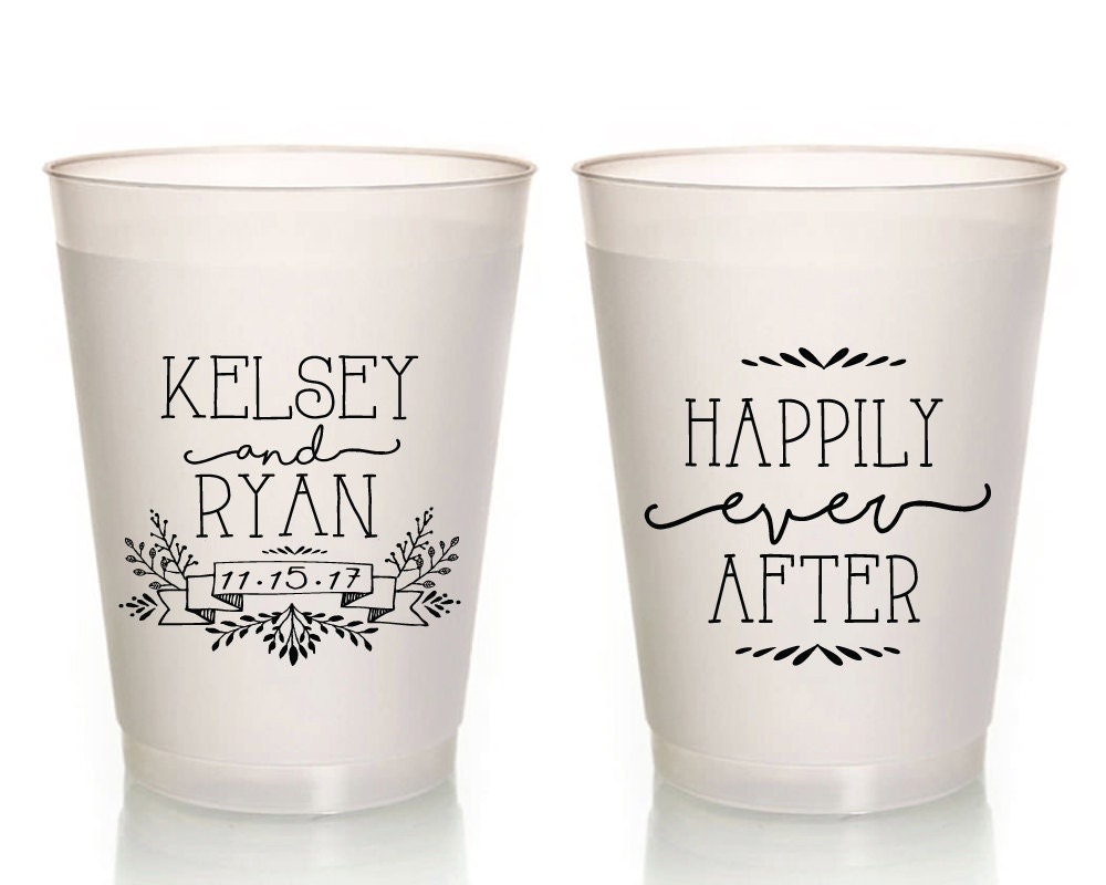 Plastic cups for wedding