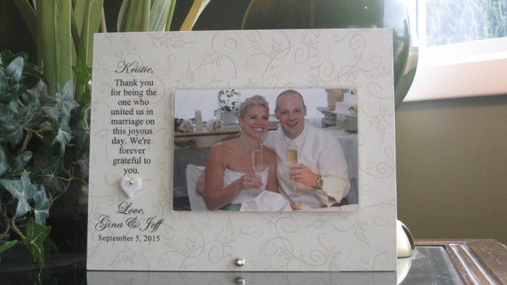 Wedding Officiant Gift Ideas: WEDDING OFFICIANT GIFT, Wedding Officiant Frame, Wedding