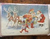 6 Santa and Sleigh Christmas Placemats