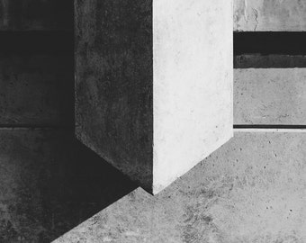 "Fine Art Photography, Urban Landscape, Portland Oregon, ""Stone Face #1"""