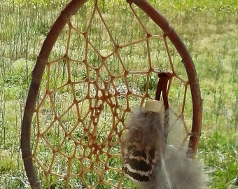 Willow Branch Dream Catcher - Traditional Willow Hoop Dream Catcher - Made in USA - Native American - Elusive Wolf