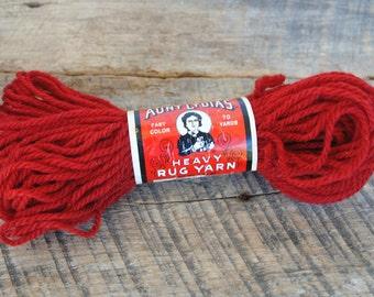 Vintage Brick Aunt Lydia's Heavy Rug Yarn 70 Yard
