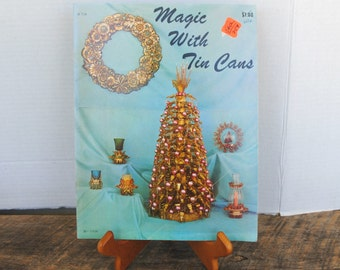 Vintage Magic With Tin Cans Craft Soft Cover Book 1968 Craft Course Publishers