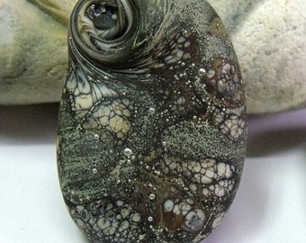 Mill Stone, Lampwork Focal Bead, SRA, UK