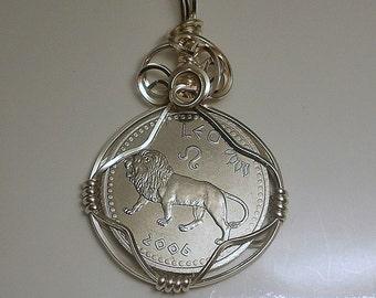 Leo Zodiac Coin Pendant