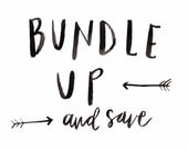 buy multiple prints or cards and SAVE, hand lettered greeting card, art print