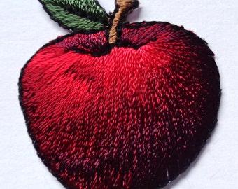 apple iron on fruit applique patch