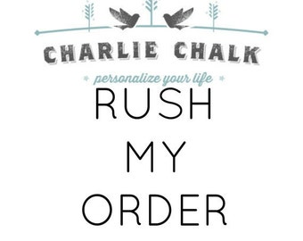 RUSH ORDER FEE - Read Description to see what you are purchasing