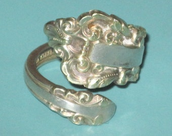 Vintage Gorham signed Sterling Silver Size 8 SPOON RING