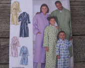 simplicity 1562 A @home easy - to -sew  robe pattern uncut factory folded unisex man woman child sizes home sewing