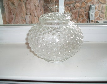 Vintage Clear Hobnail Glass Globe