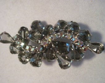Juliana Grey Rhinestone Aurora Borealis Rhinestone Brooch REDUCED