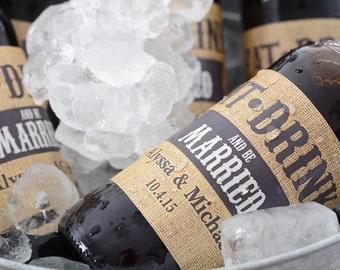 Rustic Wedding Beer Bottle Labels - Beer Labels - Custom Beer Bottle Labels - Personalized Beer Label - Waterproof Beer Labels