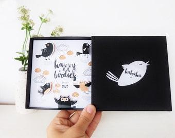 Happy birthday birdies message box (luxe version)