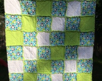 Hearts Raggy Quilt