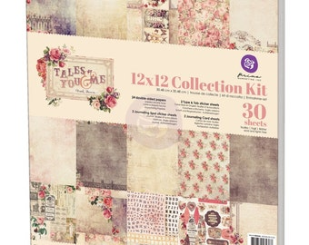 Prima Tales Of You And Me Collection Kit 12 x 12  Scrapbook New Release In Stock Ready To Ship