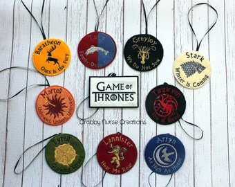 Game of Thrones Inspired Ornaments