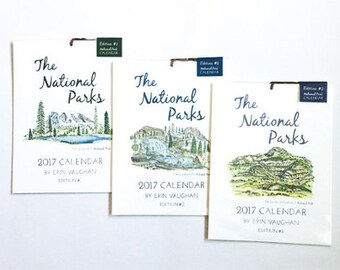 All 2018 National Park Calendars: Edition 1, 2 & 3 (with Free See America Sticker)
