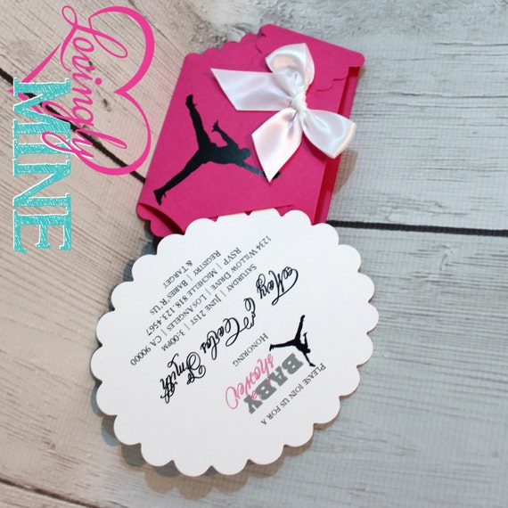 jordan jumpman inspired baby shower diaper invitations set of 10