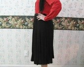 Vtg Brown knit pleated skirt by Lilly of California size 8