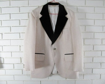 70's polyester tux jacket size 42 R