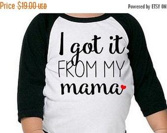 ON SALE Got It From My Mama Graphic Tee Raglan shirt