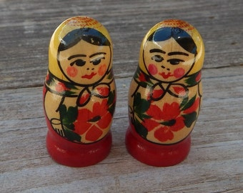 Matryoshka Russian Doll Wooden Game Pieces