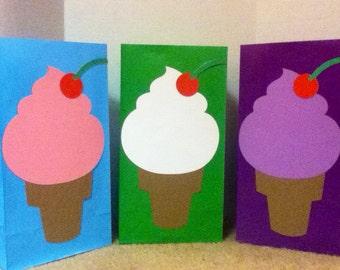 Cute Ice Cream Goody Bags