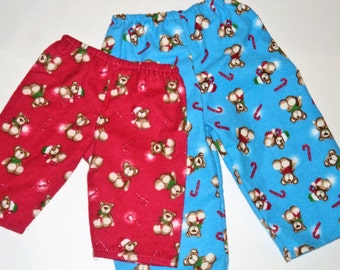 Childrens Christmas Pajama Pants, Kids Matching Pajama Pants, Holiday Pajamas,  Flannel Lounge Pants,  Baby Toddler Pj Pants, Made To Order