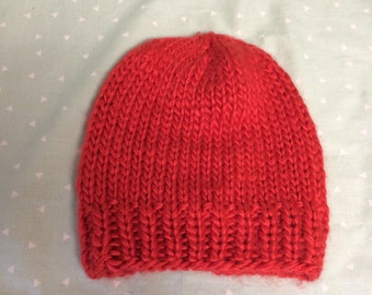 Burnt orange knit hat