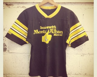 70s Jersey Top Black & Yellow
