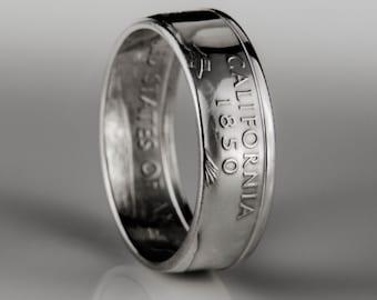 California Quarter - Coin Ring - SILVER (.900)
