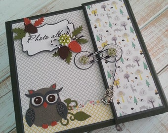 Handmade scrapbook album -  in the forest